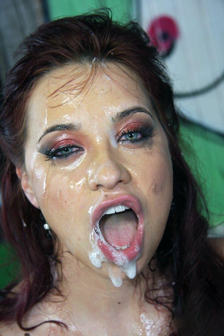 Сперма на лице порно фото