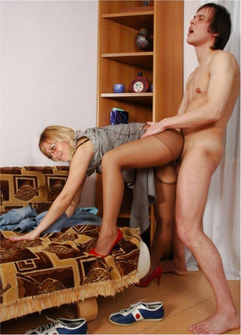 Домашнее порно в колготках фото